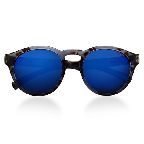 Óculos de Sol Redondo em Acetato Tigre Cinza c2b354fd45