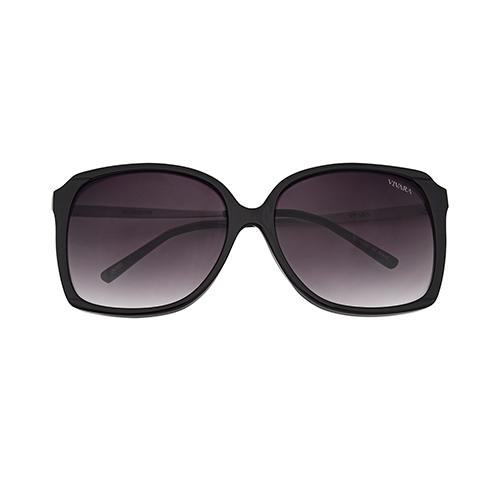33cad5ffc6aa6 Óculos de Sol Quadrado em Acetato Preto