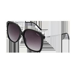 f4cf1152bc539 Óculos de Sol Quadrado em Acetato Preto