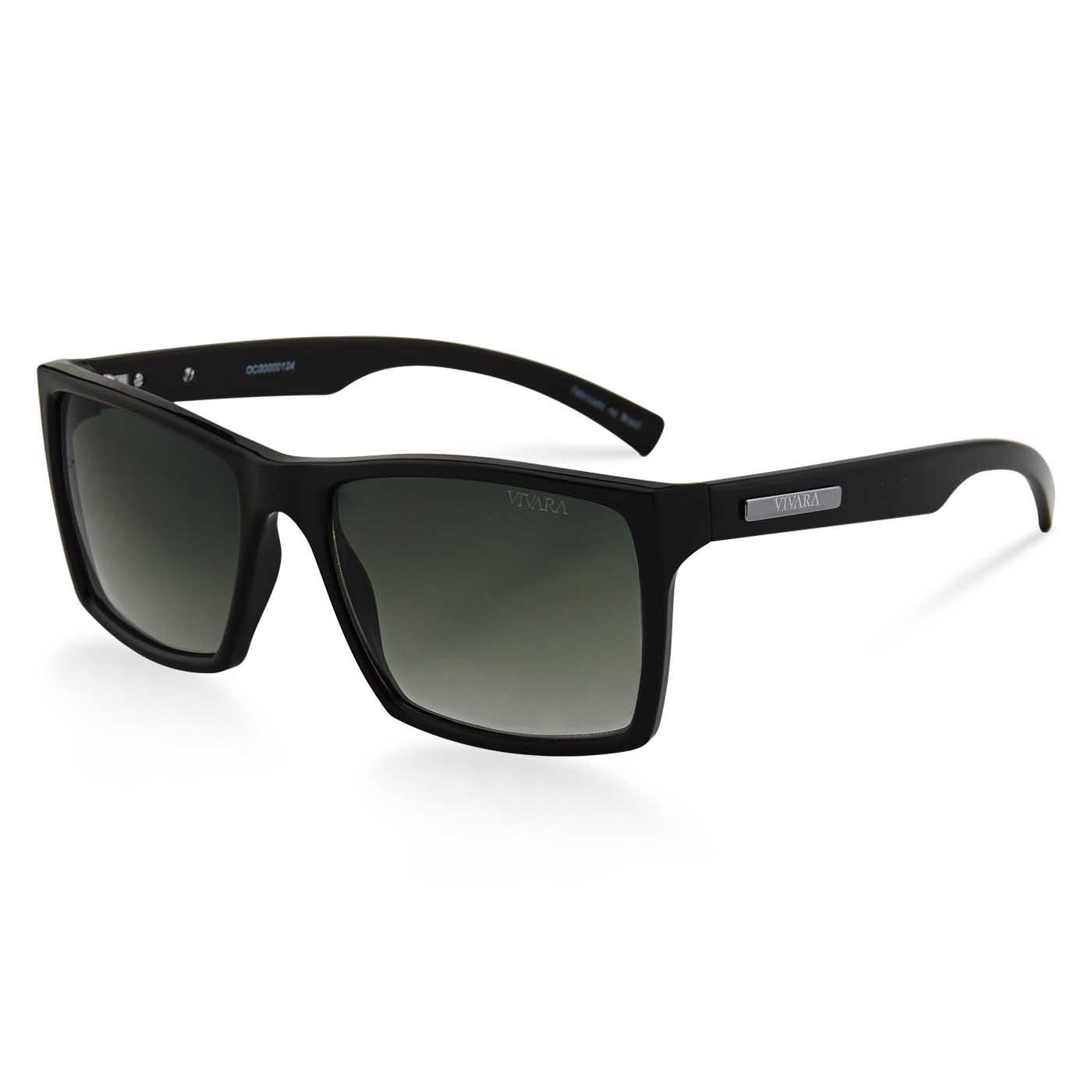 Óculos de Sol Quadrado em Acetato Preto 16858f846b
