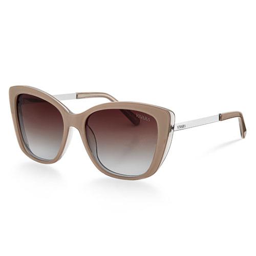 663a648886058 Óculos de Sol Gatinho em Acetato Nude