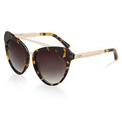 Óculos de Sol Gatinho em Acetato Rajado 02437244b0