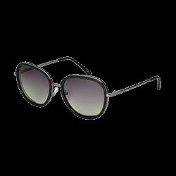 431234d3c Óculos de Sol Arredondado em Acetato Preto