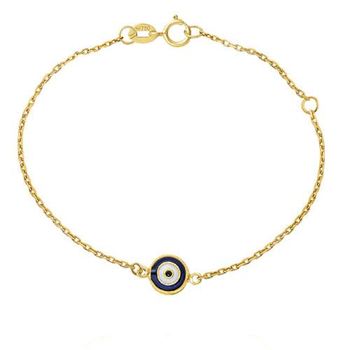 fa67ce8769d47 Pulseira Olho Grego Ouro Amarelo - Colecao Símbolo