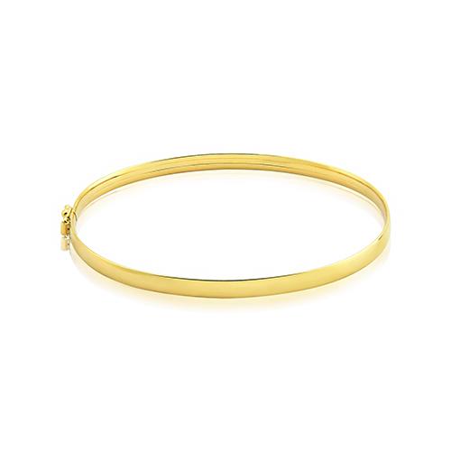 a252042c35a90 Pulseira Achatada Ouro Amarelo - Colecao Bracelete