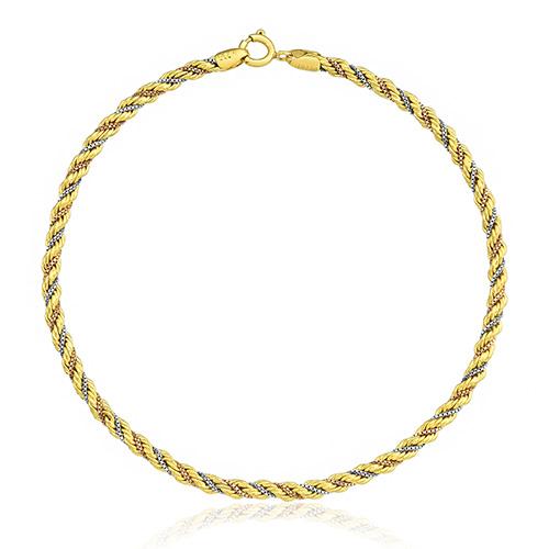 b41aa8260ed72 Pulseira Trançada Ouro Amarelo Ouro Branco e Ouro Rosé - Colecao Bracelete
