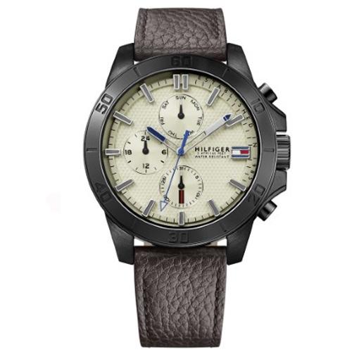 5bdfde758b2 Relógio Tommy Hilfiger Masculino Couro Marrom - 1791164
