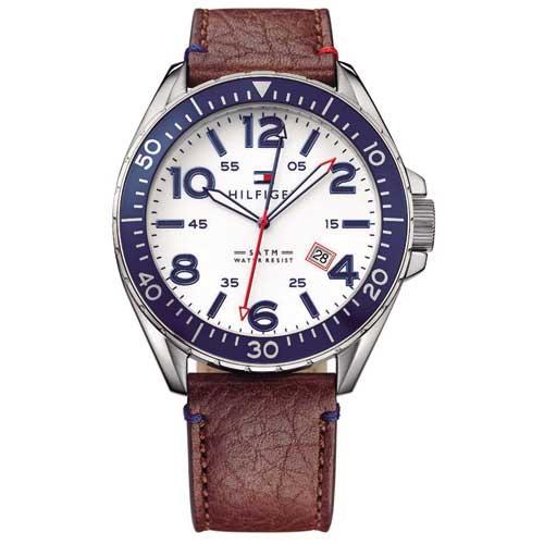 bf1d5dd60d7 Relógio Tommy Hilfiger Masculino Couro Vinho - 1791132