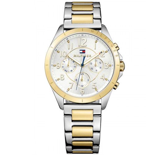 aa8461025f8 Relógio Tommy Hilfiger Feminino Aço Prateado e Dourado - 1781607