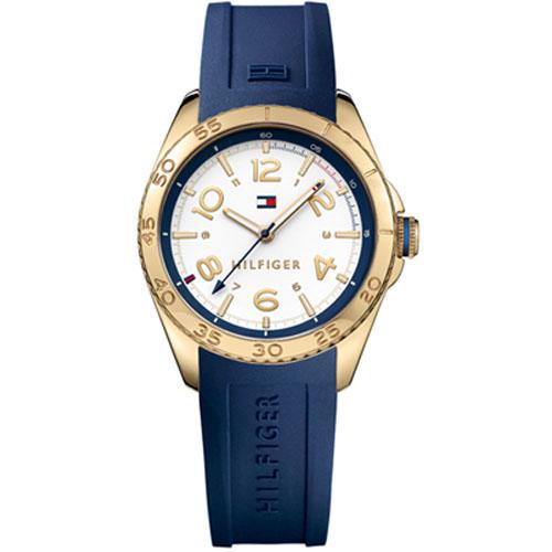 d0954597605 Relógio Tommy Hilfiger Feminino Borracha Azul - 1781637