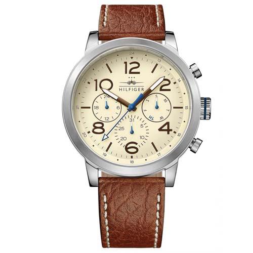 b2d049a9b27 Relógio Tommy Hilfiger Masculino Couro Marrom - 1791230