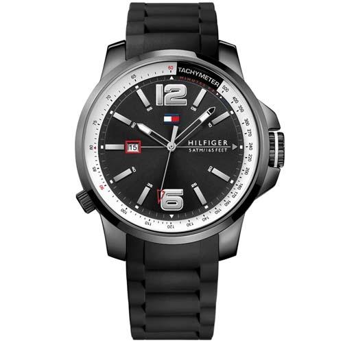 043add74a92 Relógio Tommy Hilfiger Masculino Borracha Preta - 1791221