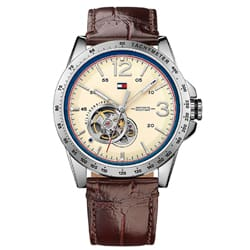 57b7a64f86a Relógio Tommy Hilfiger Masculino Couro Marrom - 1791254