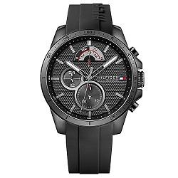 5865c2af4c8 Relógio Tommy Hilfiger Masculino Borracha Preta - 1791352