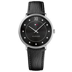 e2ec93f6a21 Relógio Tommy Hilfiger Feminino Couro Preto - 1781808