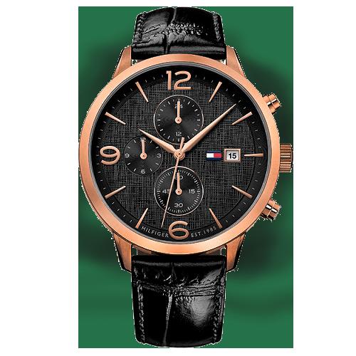 f4058c5dfd1 Relógio Tommy Hilfiger Masculino Couro Preto - 1710358