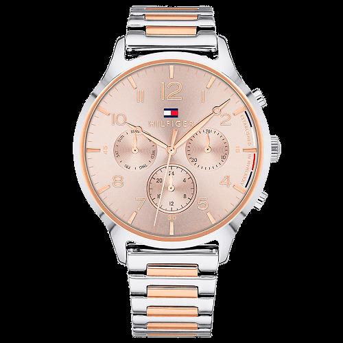 43e60e6e8c6 Relógio Tommy Hilfiger Feminino Aço Prateado e Rosé - 1781876