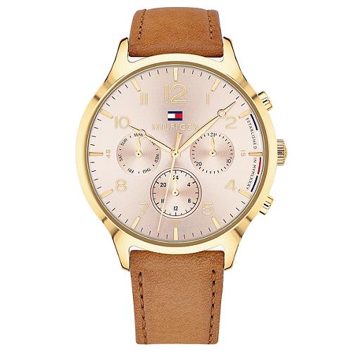 231bf7bb5f6 Relógio Tommy Hilfiger Feminino Couro Marrom - 1781875