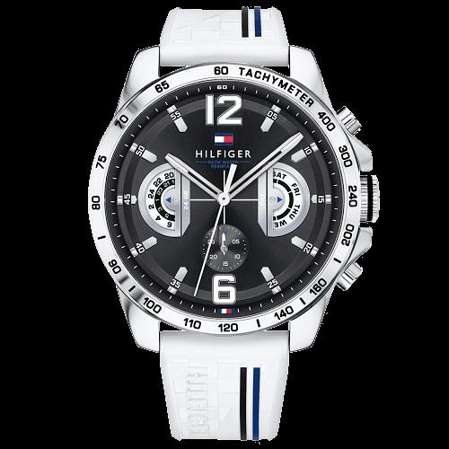 a9594599b8b Relógio Tommy Hilfiger Masculino Borracha Branca - 1791475