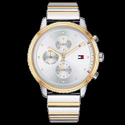 96d1da52971 Relógio Tommy Hilfiger Feminino Aço Prateado e Dourado - 1781908