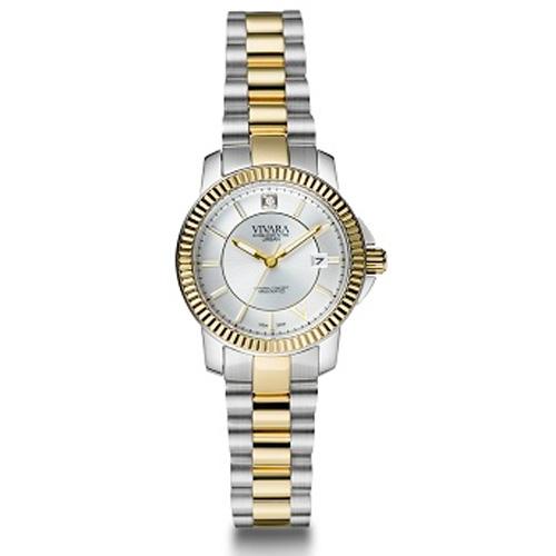 741001ed8d5 Relógio Vivara Feminino Aço Prateado e Dourado - DS09262R2E-1