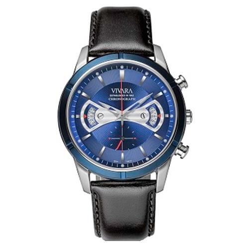 2b0e48794cd Relógio Vivara Masculino Couro Preto - DS11657A-3