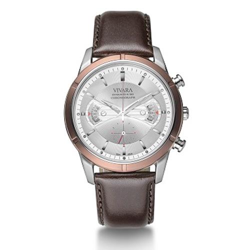 1435a940901 Relógio Vivara Masculino Couro Marrom - DS11657C