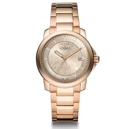 6679739e08f Relógio Vivara Feminino Aço Rosé - DS11834A-1