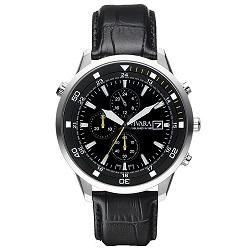2ca0ccdfb16 Relógio Vivara Masculino Couro Preto - DS12717A
