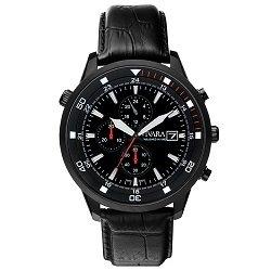 dba57381550 Relógio Vivara Masculino Couro Preto - DS12717C