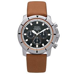 a72eccbf6f9 Relógio Vivara Masculino Couro Marrom - DS13105R0C-1