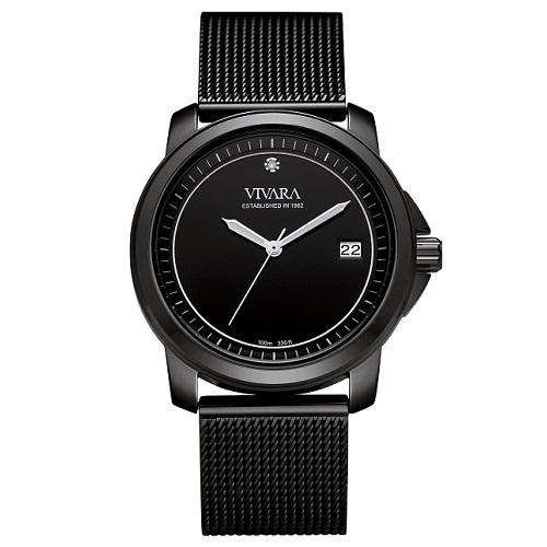 16978b8ecd2 Relógio Vivara Feminino Aço Preto - DS13064R0A-1