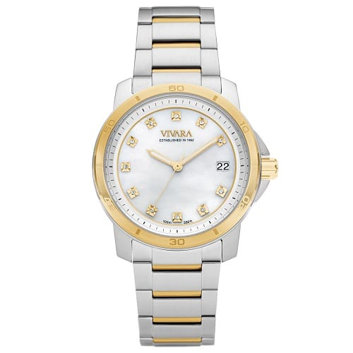52a9c6f2d7d Relógio Vivara Feminino Aço Prateado e Dourado - DS13118R0B-1