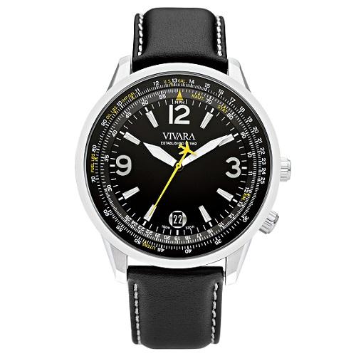 bc07ea1ba7b Relógio Vivara Masculino Couro Preto - DS13103R1F-1