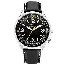 3e125bc7161 Relógio Vivara Masculino Couro Preto - DS13103R1F-1