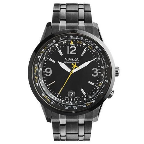 d1057674b1b Relógio Vivara Masculino Aço Cinza - DS13104R0G-1