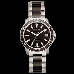 3d5966f6f2f Relógio Vivara Feminino Aço Prateado e Preto - DS13155R2E-1