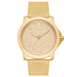 95aaf576551 Relógio Vivara Feminino Aço Dourado - DS13466R0C-1