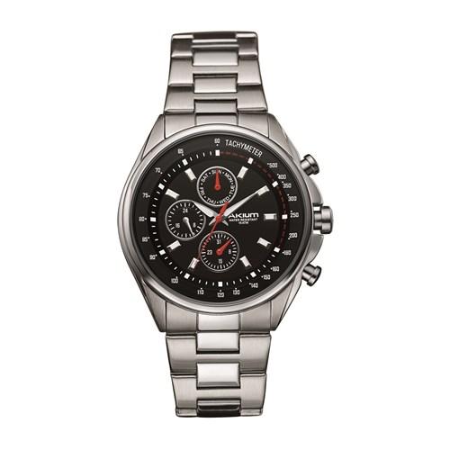 3ffb67096f8 Relógio Akium Masculino Aço - TMG6278-BLACK