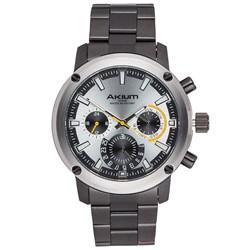 Relógio Akium Masculino Aço Preto - G6620-IPB-Silver 36d9b7d6e6