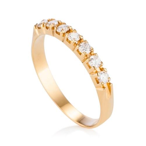 4746ee0611a3b Meia Aliança Ouro Amarelo e Diamantes - Colecao Meia Aliança