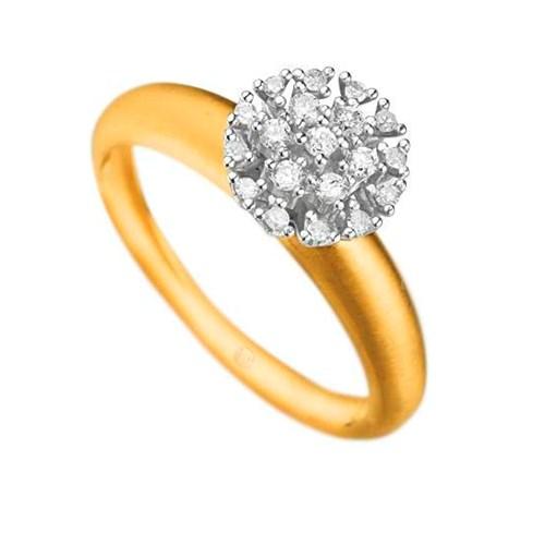 535a4fcc95887 Anel Ouro Amarelo Ouro Branco e Diamantes - Colecao Pavê