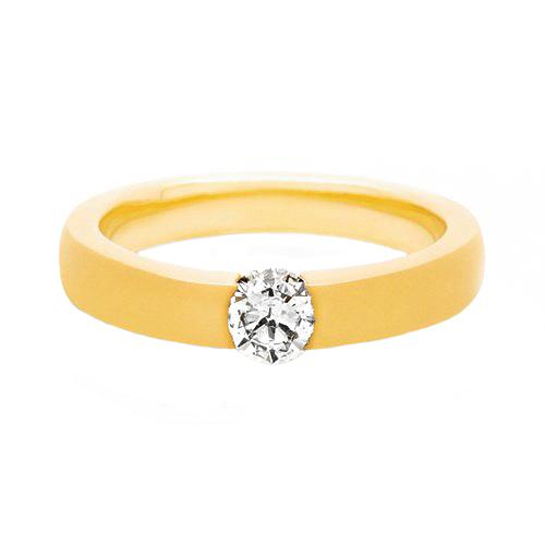 6ab55c9715ca9 Solitário Ouro Amarelo e 40 Pontos de Diamantes - Colecao Promise