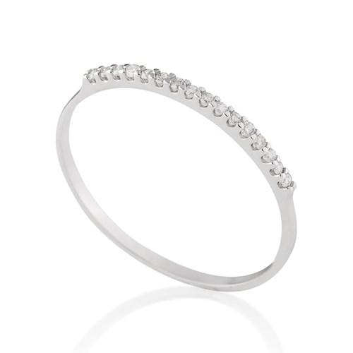 edb22b6351e Meia Aliança Ouro Branco Diamantes - Colecao Meia Aliança