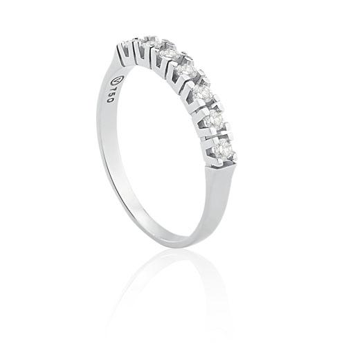 3be5f9601d0 Meia Aliança Ouro Branco e Diamantes - Colecao Meia Aliança