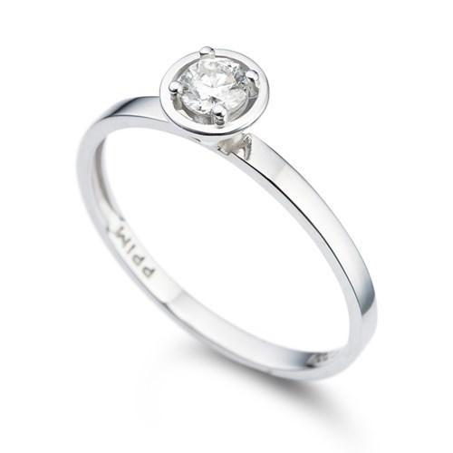 31a9c41231fdd Solitário Ouro Branco e 21 Pontos de Diamantes - Colecao Solitário