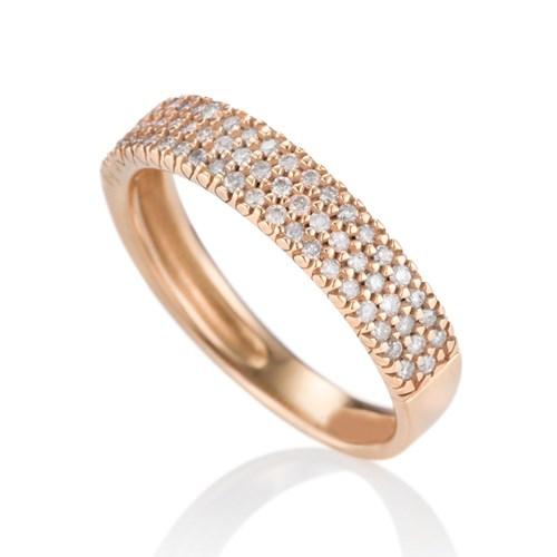 231b74b629fcc Anel Ouro Rosé e Diamantes - Colecao Lumiere Clássico