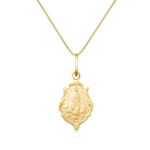 Medalha Ouro Amarelo Nossa Senhora de Fátima - Colecao Medalhas 540e1bf03d