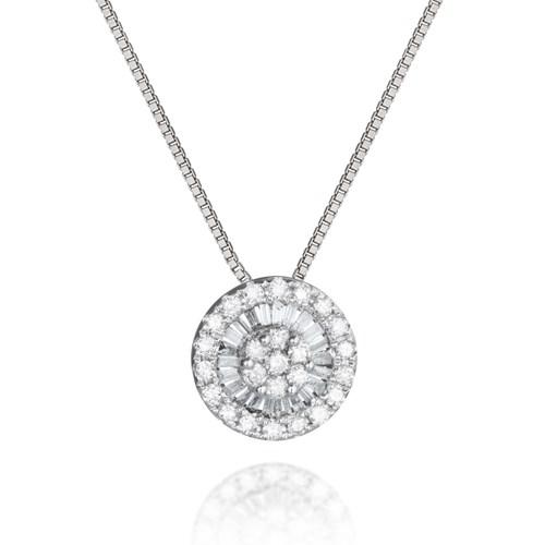 da64cb2e1613a Pingente Ouro Branco e Diamantes - Colecao Composê