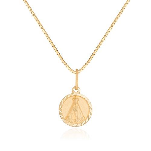 Pingente Medalha Ouro Amarelo Nossa Senhora Aparecida - Colecao Medalhas 8add6d88db